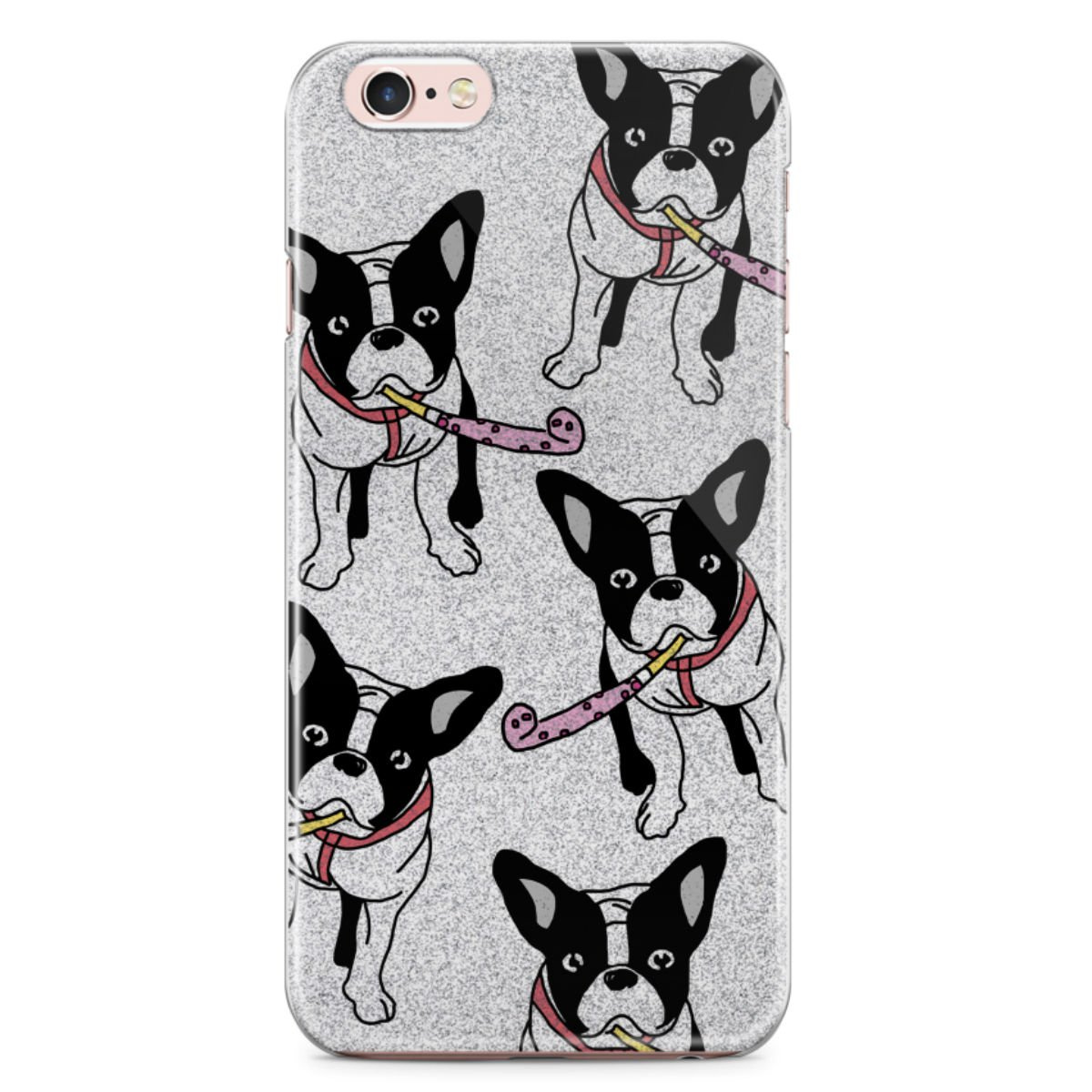 Kryt na iPhone 6 6s Yeah Bunny - Glitter Frenchie  23d40738d91
