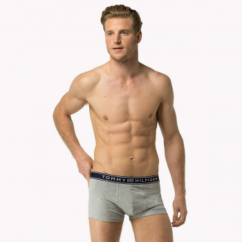 Sivé boxerky – Cotton Low–Rise