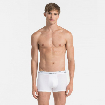 Sada 2ks – Biele boxerky Low Rise Cotton Stretch