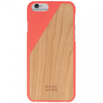 Kryt na iPhone 6 – Clic Wooden Coral Red