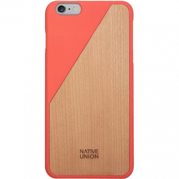 Kryt na iPhone 6 Plus – Clic Wooden Coral Red