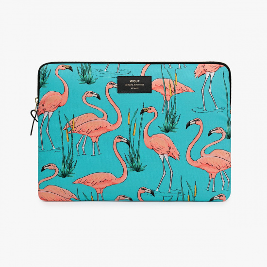 "Puzdro na notebook 13"" – Pink Flamingos"