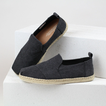 Čierne espadrilky – Washed Canvas Deconstructed Alpargatas