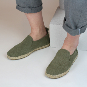 Šedozelené espadrilky – Washed Canvas Deconstructed Alpargatas