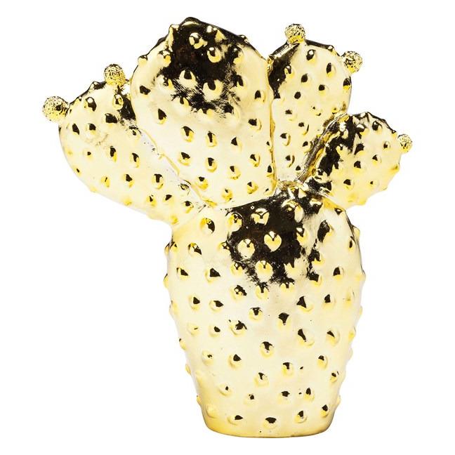 KARE DESIGN Sada 2 ks − Pokladnička Cactus Desert Gold 22 cm