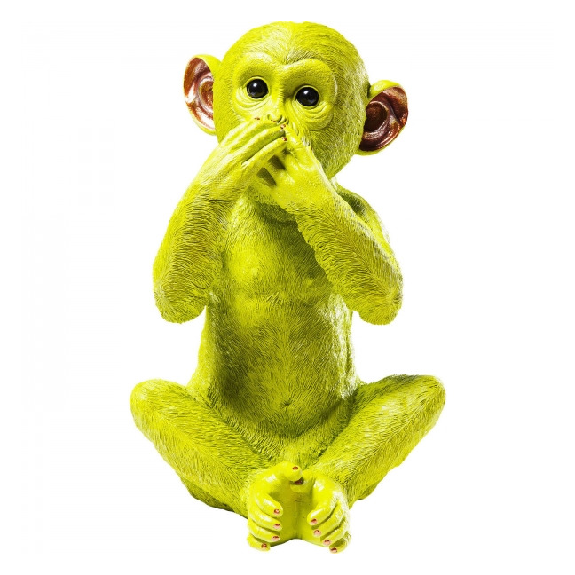 KARE DESIGN Pokladnička Monkey Iwazaru - limetková